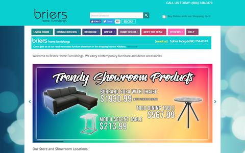 Screenshot of Home Page briers.ca - Vancouver Furniture & Decor | BBB Accredited A+ Rating | Briers Home Furnishings - captured July 2, 2017