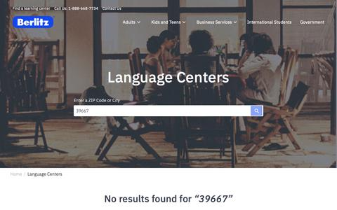 Screenshot of Locations Page berlitz.com - Berlitz Language Center Locations | Berlitz - captured Feb. 23, 2019