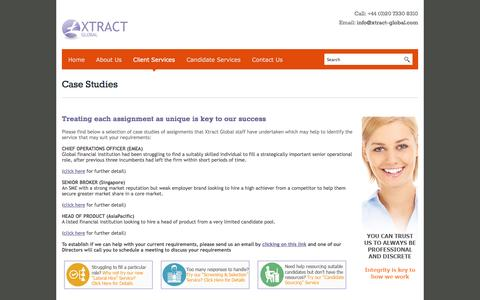 Screenshot of Case Studies Page xtract-global.com - Case Studies - Oil & Gas Recruitment | Xtract Global - captured Oct. 27, 2014