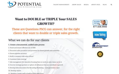 Want to Double or Triple Sales Growth? – Potential Sales and Consulting Group