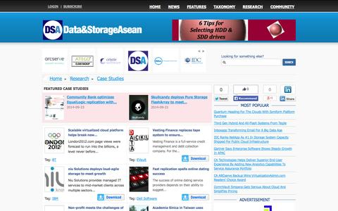 Screenshot of Case Studies Page datastorageasean.com - Data and Storage News from around South East Asia - captured Nov. 4, 2014