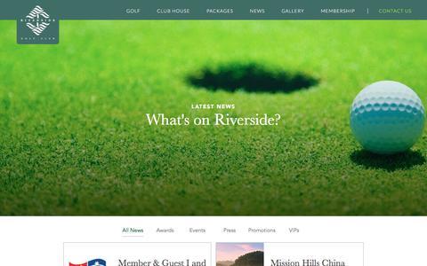Screenshot of Press Page riverside-golf.com - Riverside Golf - captured June 13, 2016