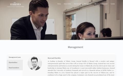 Screenshot of Team Page miinto.com - Management2 – Miinto.com - captured Nov. 14, 2016