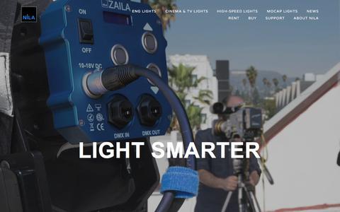 Screenshot of Home Page nila.com - Nila - captured July 9, 2018