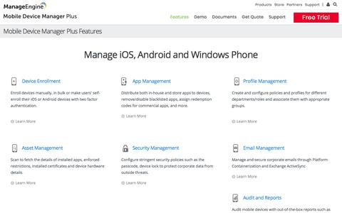 Mobile Device Manager Features