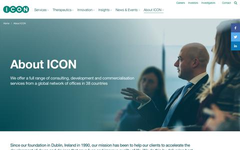 Screenshot of About Page iconplc.com - About ICON - ICON plc - captured July 25, 2018