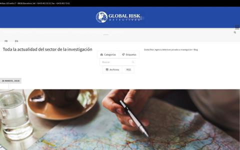 Screenshot of Blog globalrisk.es - Toda la actualidad de detectives privados. - captured April 17, 2018