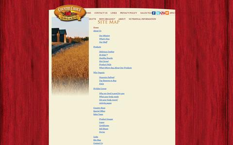 Screenshot of Site Map Page countrychoiceorganic.com - Site Map | Country Choice Organic - captured Sept. 30, 2014