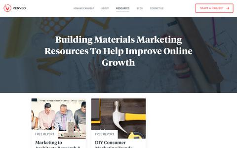 Digital Marketing Agency for Building Materials Companies | Venveo