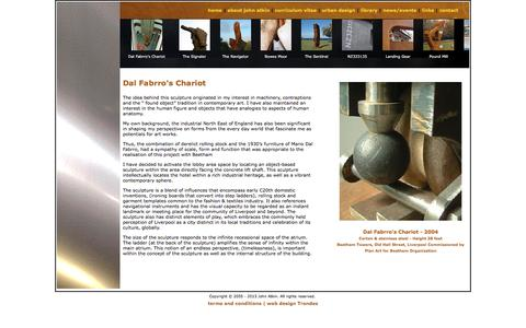 Screenshot of Case Studies Page johnatkin.net - Sculpture Beethan Towers Liverpool | Dal Fabrro's Chariot by John Atkin | Commissioned Plan Art for Beetham - captured Aug. 7, 2016