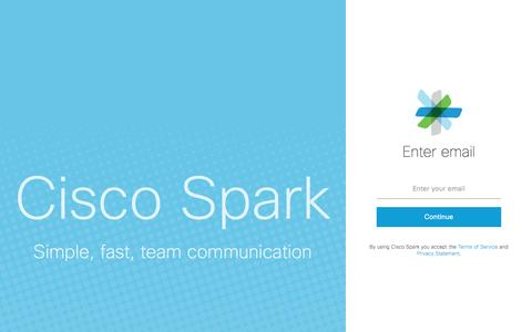 Sign in to Cisco Spark