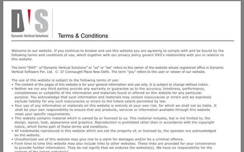 Screenshot of Terms Page dynamicverticals.com captured Oct. 5, 2014