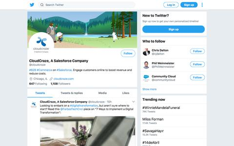 Tweets by CloudCraze, A Salesforce Company (@cloudcraze) – Twitter