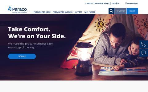Screenshot of Home Page paracogas.com - Homepage | paracogas - captured Sept. 26, 2018