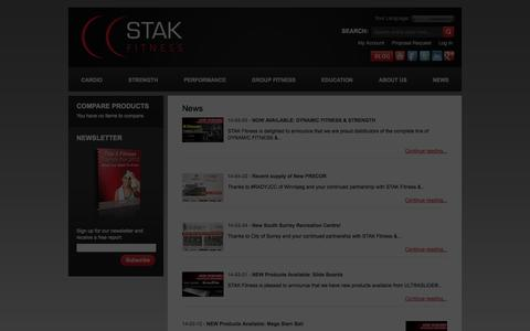 Screenshot of Press Page stakfitness.com - STAK FITNESS - captured Sept. 30, 2014