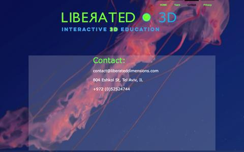 Screenshot of Contact Page liberateddimensions.com - liberated3d | Contact - captured May 18, 2017