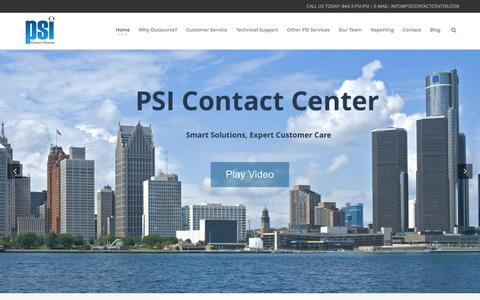 Screenshot of Home Page psicontactcenter.com - Expert Customer Care - Contact Center & Customer Relationship Management USA - captured May 12, 2017