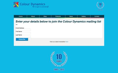 Screenshot of Signup Page colourdynamics.co.uk - Colour Dynamics Mailing List Signup - captured May 20, 2017