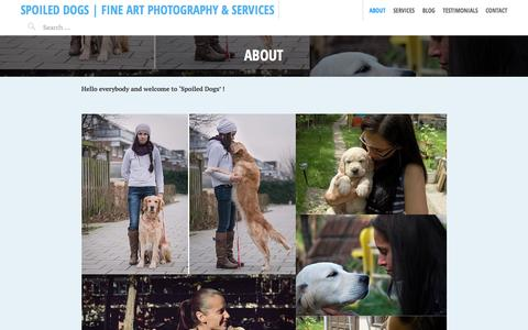 Screenshot of About Page spoileddo.gs - About Spoiled Dogs - captured Feb. 15, 2016