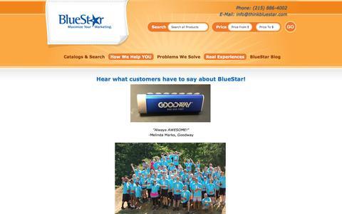 Screenshot of Testimonials Page thinkbluestar.com - Testimonials - BlueStar Marketing - captured Nov. 22, 2016
