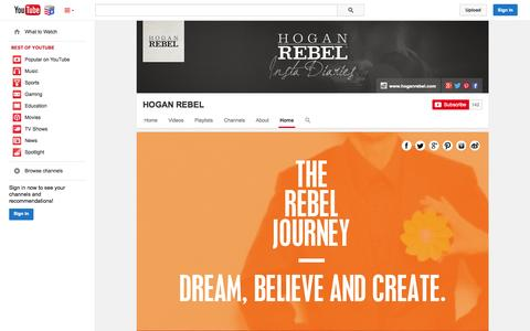 Screenshot of YouTube Page youtube.com - HOGAN REBEL  - YouTube - captured Nov. 4, 2014