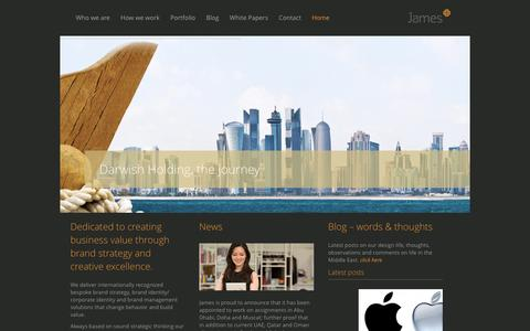 Screenshot of Home Page jamesbranding.com - Branding Consultancy | Dubai UAE Doha Qatar Oman | Brand Design Agency - captured Feb. 23, 2016