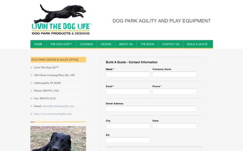 Screenshot of Contact Page livinthedoglife.com - Contact Us - Dog Park Products, Dog Park Equipment, Dog Agility and Dog Water Fountains - Livin The Dog Life - captured July 20, 2018