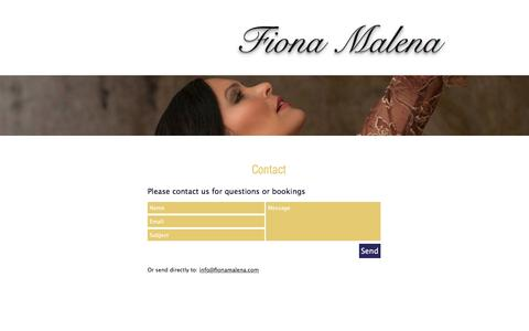 Screenshot of Contact Page fionamalena.com - Fiona Malena | Contact - captured Nov. 25, 2016
