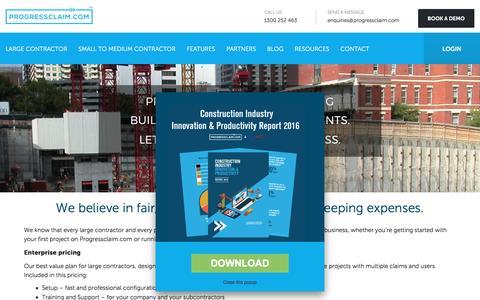 Screenshot of Pricing Page progressclaim.com - Pricing | Progressclaim.com - captured May 28, 2017