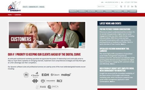 Screenshot of Case Studies Page getensight.com - Customers - captured Nov. 1, 2014