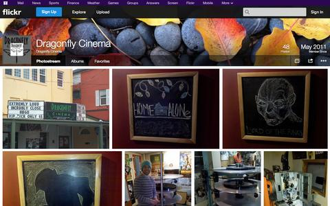 Screenshot of Flickr Page flickr.com - Flickr: Dragonfly Cinema's Photostream - captured Oct. 22, 2014