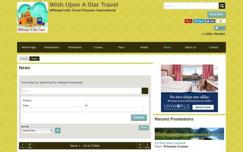 Screenshot of Press Page wishuponastartravel.com - News   Wish Upon A Star Travel - captured Nov. 7, 2017