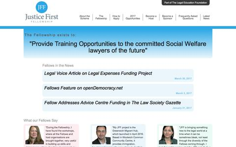 Justice First Fellowship | Providing Training Contracts to the Social Welfare lawyers of the future