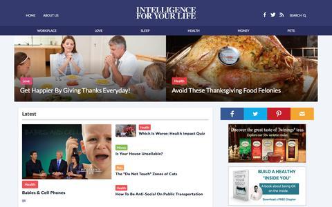 Screenshot of Home Page tesh.com - Intelligence For Your Life - captured Nov. 30, 2016