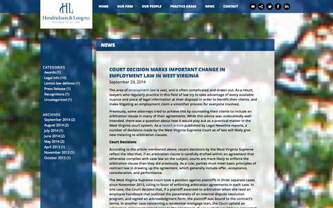 Screenshot of Press Page handl.com - News | H and L - captured Oct. 2, 2014