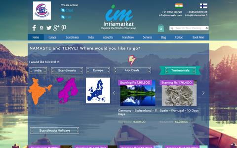 Screenshot of Home Page intiamatkat.fi - Intiamatkat Tours - captured Aug. 6, 2016
