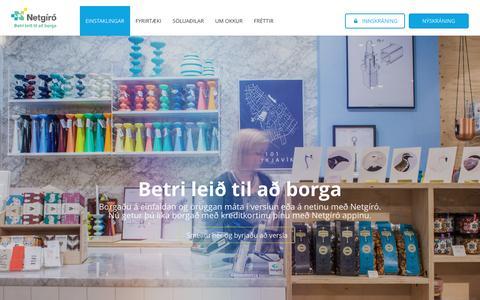 Screenshot of Home Page netgiro.is - Netgíró - betri leið til að borga - Netgíró - captured Aug. 12, 2016