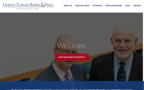Screenshot of Home Page utbf.com - Pennsylvania Law Firm - Unruh, Turner, Burke & Frees - captured Sept. 5, 2015