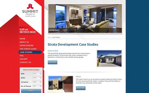 Screenshot of Case Studies Page strataliving.com.au - Strata Living - Strata Development Case Studies - captured March 8, 2016
