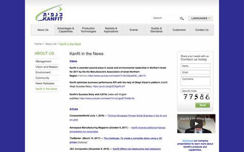 Screenshot of Press Page kanfit.com - Kanfit in the News - captured Sept. 20, 2018