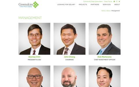 Screenshot of Team Page greenskies.com - Greenskies :: Management - captured Sept. 30, 2018