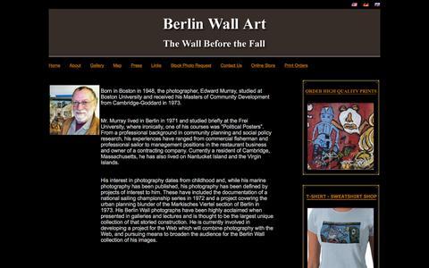Screenshot of About Page berlinwallart.com - Berlin Wall Art - About Ed Murray - captured May 21, 2016