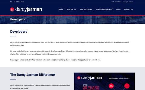 Screenshot of Developers Page darcyjarman.com.au - Developers | Darcy Jarman - captured July 31, 2016