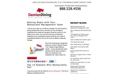 Screenshot of Blog damiandining.com - Restaurant News and Opinions - captured Oct. 27, 2014