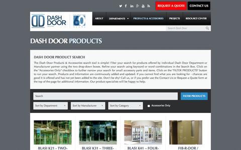 Screenshot of Products Page dashdoor.com - Dash Door Products Archive - Dash Door - captured Feb. 8, 2016