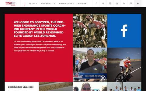 Screenshot of Home Page bodyzen.com - BodyZen | premier endurance sports coaching company - captured Oct. 5, 2014