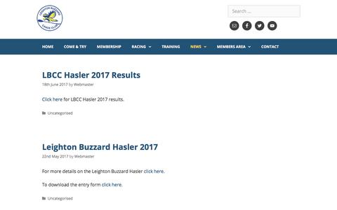Screenshot of Press Page lbcc.org.uk - News – Leighton Buzzard Canoe Club - captured Aug. 1, 2017