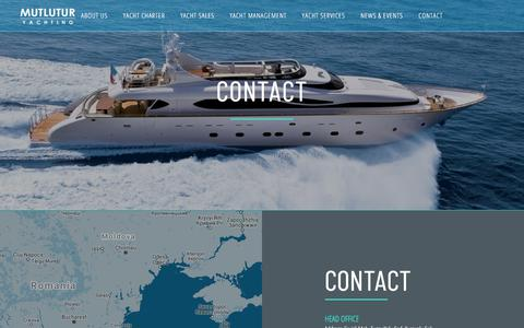 Screenshot of Contact Page mutluturyachting.com captured July 26, 2018