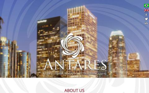 Screenshot of Services Page antarescni.com - Antares | Consultoria Nacional e Internacional - captured Nov. 19, 2016