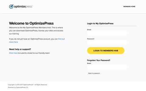 OptimizePress Members Hub — OptimizePress Members Hub